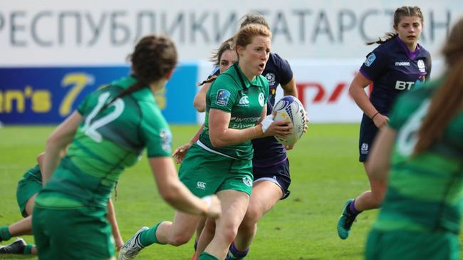 Captain Claire Keohane leads an attack for the Ireland Women