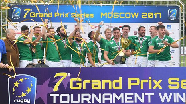 The Ireland Men's Sevens squad recently won the Moscow 7s title