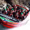 All of the jet pilots are 'highly trained and licensed to thrill'. They are expert handlers of the 'Big Red' jet boat on the river's fast flowing waters