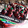 Dubbed the world's 'most exciting jet boat ride', the Shotover Jet experience took the players through the narrow canyons and on full 360° spins