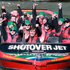 Life jackets, sunglasses and woolly hats were the order of the day as the Ireland players enjoyed a ride on the world famous Shotover Jet