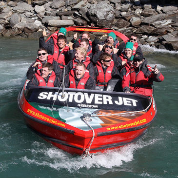 The Ireland players enjoyed the Shotover Jet experience