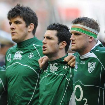 Donncha O'Callaghan, Rob Kearney and Jamie Heaslip
