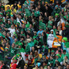 The Ireland fans outnumbered their Welsh counterparts and were in fine voice as they backed Brian O'Driscoll and the rest of the team