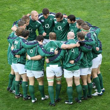 Ireland in a pre-match huddle