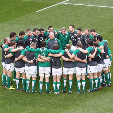 Declan Kidney with the Ireland players