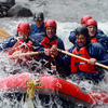 Pictured navigating their way through the rapids on the Tongariro River are Damien Varley, Donncha O'Callaghan, Tommy Bowe, Jamie Heaslip and Tony Buckley