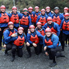 Some of the Ireland squad and members of the backroom team, Willie Gribben, Cameron Steele and Dave Revins, enjoyed their action-packed journeys along the Tongariro River