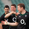 Is it YMCA time for Ronan O'Gara or just another light-hearted moment towards the end of Thursday's training stint in Auckland?