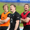 Oh so close - the faces of Andrew Trimble, Brian O'Driscoll and Johne Murphy tell it all at North Harbour stadium