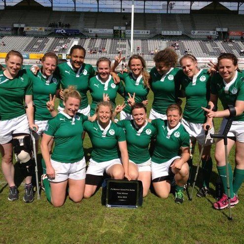 Ireland Women In Action During FIRA-AER European Sevens Grand Prix Series, Brive And Marbella, June 2013