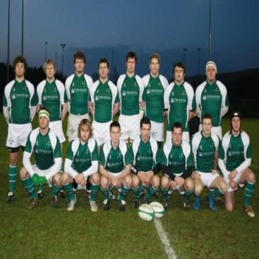 The Irish Colleges team line up before kick-off