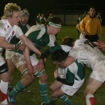 Action from the Irish Colleges v England Students game