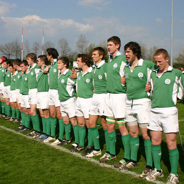 The Ireland Under-18 Clubs side line up against France