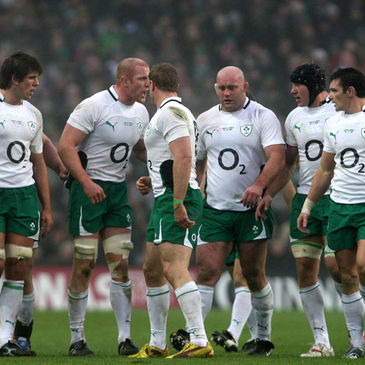 Paul O'Connell and the Ireland forwards