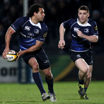 Leinster's Isa Nacewa and Andrew Conway
