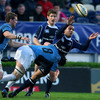 Leinster winger Isa Nacewa offloads whilst being tackled by Kelly Brown, one of Glasgow's try scorers on the night