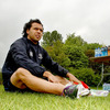 Isa Nacewa, who scored the crucial try against Leicester Tigers, puts his boots on for Monday's squad session at UCD