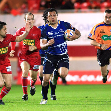 Isa Nacewa makes a break for Leinster against the Scarlets