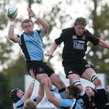 Ivan Muldoon wins a lineout for Galwegians