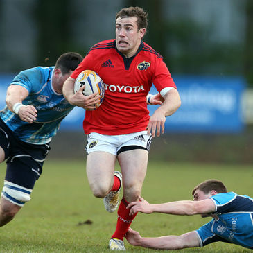 JJ Hanrahan in British & Irish Cup action for Munster 'A'