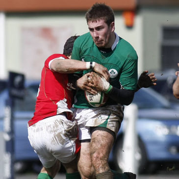 JJ Hanrahan in possession for the Ireland Schools side