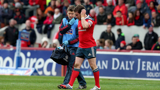 JJ Hanrahan was injured during the defeat to Glasgow Warriors