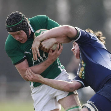 Number 8 Jack Conan in action for Ireland Schools
