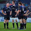 Rocky Elsom talks tactics with Bernard Jackman as Devin Toner and Jamie Heaslip look on