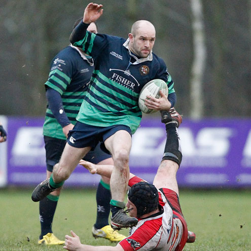 James Bates in action for Clogher Valley