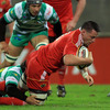 James Coughlan's early touchdown was his second try in the space of a week for Munster. He also dotted down against Toulon in the Heineken Cup