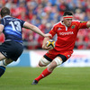 Munster's Player of the Year James Coughlan tries to wrongfoot Leinster's Brian O'Driscoll, who had Fergus McFadden as his centre partner