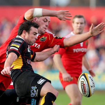 Munster's James Coughlan in action against the Dragons