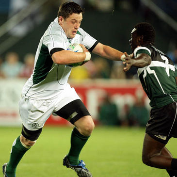 James Coughlan on the attack for Ireland