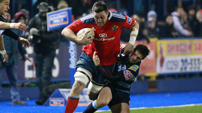 James Coughlan in action for Munster