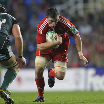 James Coughlan in Heineken Cup action for Munster