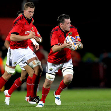 James Coughlan in possession for Munster