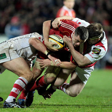 Munster's James Coughlan in action against Ulster
