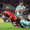 James Coughlan's 14th-minute try helped Munster edge 10-3 clear by the quarter hour mark