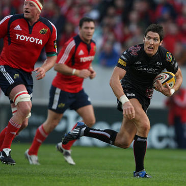 James Hook in action against Munster