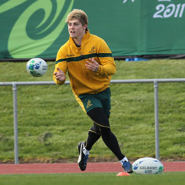 James O'Connor training with the Australia squad