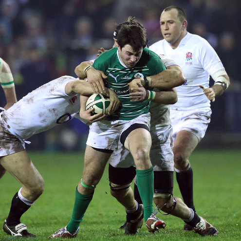 Photos of the Ireland Club XV's victory over England Counties at Temple Hill