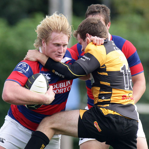 Photos of the Clontarf v Young Munster match at Castle Avenue
