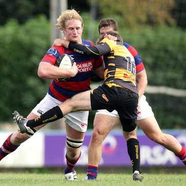 Jamie Chipman leads the charge for Clontarf