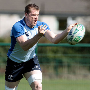 Jamie Heaslip training with the Leinster squad