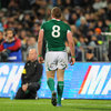 The 16th minute sending off of number 8 Jamie Heaslip left Ireland a man down and really up against it
