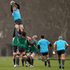 The forwards fine-tune some set piece moves for Ireland's first encounter with Wales since the World Cup quarter-final defeat in Wellington