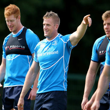 Jamie Heaslip is pictured during a recent Leinster training session