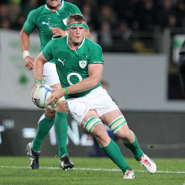 Jamie Heaslip in action against New Zealand