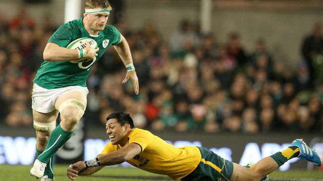 Jamie Heaslip in action against Australia